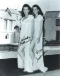 "Mary & Madeline Collinson ""Twins of Evil"" Hammer star's  Genuine Signed Autograph 10x8  4911X"